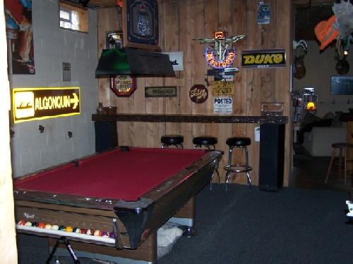 Bar Pool table area