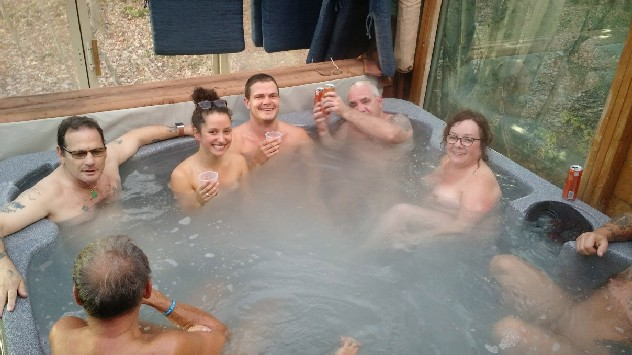 Nudist Hot Tub