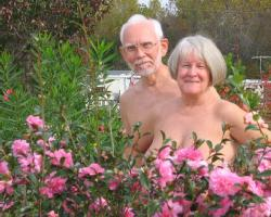 Nude Couple in garden Courtesy of AANR